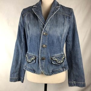 Tommy Hilfiger Denim Jacket Overlay Pockets Med
